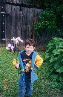 Ben with Irises