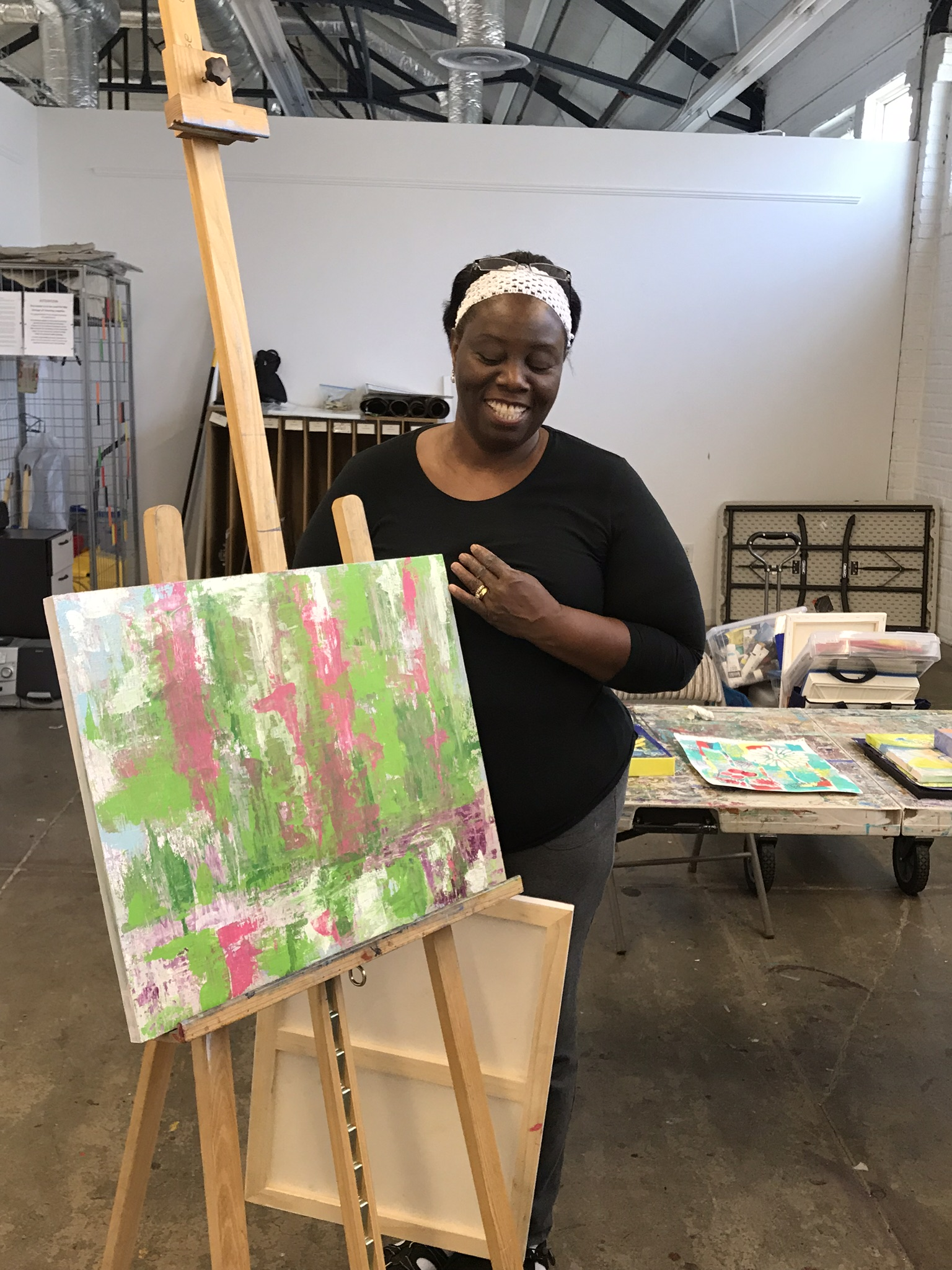 Shenell and abstract art